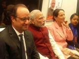 Video : PM Modi, President Hollande Ditch Cavalcades, Ride Metro To Gurgaon