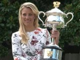 Angelique Kerber Celebrates Australian Open Victory