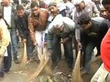 AAP Ministers Use Brooms In Delhi, Sanitation Workers Block Clean-Up Team
