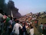 Video : आंध्र प्रदेश में आरक्षण की मांग को लेकर हिंसक प्रदर्शन, ट्रेन की बोगियां जलाईं
