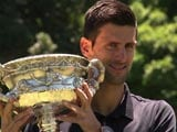 Novak Djokovic Celebrates Record Sixth Australian Open Win