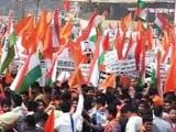 जेएनयू विवाद : दिल्ली के रामलीला मैदान पर एबीवीपी ने निकाला मार्च