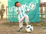 Afghan Boy Who Went Viral Gets Signed Messi Shirts