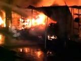 Video : कानपुर के परेड बाज़ार इलाके में भीषण आग, बच्चे की मौत