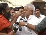 Video: Lalu Yadav Is Model For Ramdev's Special Cream And Energy Bars