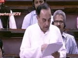 Video: Are Italians Crazy To Pay An AP Who's Not Ahmed Patel: Subramanian Swamy