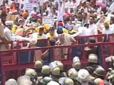 Video: Thousands Stopped At Chandigarh Border Amid AAP Protests