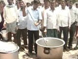 Video: In Telangana Chief Minister KCR's Hometown, A Protest 'Cookout' By Farmers