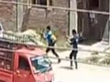 Video : Terrorists With AK-47s Fire At Police In Attack Caught On Camera