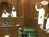 Video : BJP Lawmaker Vijendra Gupta Stands On The Bench In Delhi Assembly