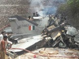 Video : MiG-27 Fighter Plane Crashes Into Building In Jodhpur, Both Pilots Safe
