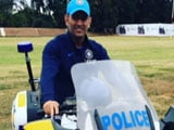 Biker-Lover MS Dhoni Turns Zimbabwean Cop