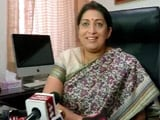 Video : 'Kuch Toh Log Kahenge...,' Smriti Irani, Textile Minister, Says With A Smile