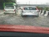 After Heavy Rain, Waterlogging On Delhi Roads. Traffic Crawls