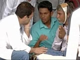 Video: Rahul Gandhi Reaches Out To Dalit Victim Thrashed In Gujarat