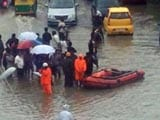 Video: Bengaluru, IT City, Uses Boats To Rescue People Stranded In Rain
