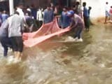 Video : Watch: Stranded on Bengaluru Roads, People Turn to Fishing. Seriously.