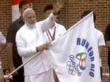 Video : PM Modi Flags-Off 'Run For Rio'