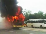 Video : Bus Set Afire After 1 Dead In Punjab Hit-And-Run