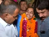 Video: Dipa Karmakar Arrives in Delhi After Rio 2016 Success