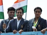 Sindhu Arrives, Gets Hero's Welcome