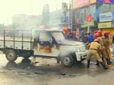 Video : Clashes In Tripura During Rally, 20 Injured, Vehicles Burnt