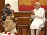 Video : As Kashmir Unrest Enters Day 50, Mehbooba Mufti Meets PM Modi