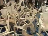 Video : Chaos At Amit Shah's Patidar Meet As Hardik Patel Supporters Break Chairs