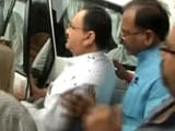 Video: Angry AIIMS Students Throw Ink At Health Minister JP Nadda In Bhopal