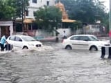 Video : Potholes Turn Into Craters As Hyderabad Drowns In Heavy Rain