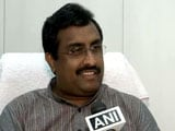 Video : 'Pak PM Spoke Like Chief Of Hizbul Mujahideen,' Says BJP's Ram Madhav