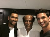 Video : When Rajinikanth Met Sushant Singh Rajput, M S Dhoni