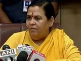 Video: Unable To Forge Cauvery Truce, Uma Bharti Offers A Hunger Strike Instead