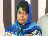 Video : To AAP Minister's 'Burhan Wani' Attack, Mehbooba Mufti's Riposte