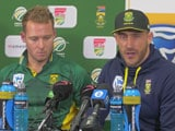 Video : No Words To Express How South Africa Beat Australia: Faf du Plessis