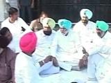 पंजाब में मुख्यमंत्री आवास के बाहर कांग्रेस का धरना