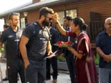 New Zealand Get Traditional Indian Reception in Dharamsala
