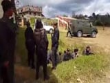 Video : Firing Near Ukhrul Helipad When Chief Minister Ibobi Singh Was Taking Off
