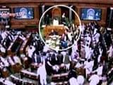 Video : Papers Thrown At Lok Sabha Speaker Sumitra Mahajan By Samajwadi Lawmaker Akshay Yadav