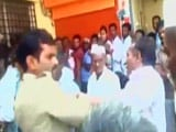 Video: Caught On Camera: Cop Slaps Ex-Serviceman In Bank Queue In Karnataka