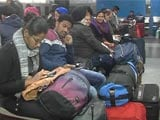 Video : Train Services Hit As Heavy Fog Blankets Delhi, Passengers Stranded