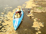 Video: A Woman Paddle-boards Across The Ganges To Spread The Swachh Message
