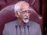 Video : Upset Hamid Ansari On House Chaos: Peace Prevailed Only During Obituaries
