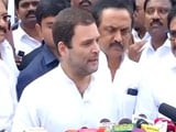 Video : Rahul Gandhi Visits DMK Chief Karunanidhi At Chennai Hospital