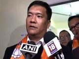 Video : BJP Forms Government In Arunachal As Pema Khandu, 32 Others Join Party