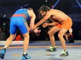 Video : Ramdev Shows 'Dhaakad' Wrestling Skills In Bout With Olympic Medallist