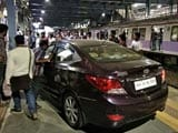 Video : Panic As Cricketer Drives Car Onto Mumbai Platform In Rush Hour