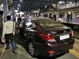 Video : Panic As Cricketer Drives Car Onto Mumbai Platform In Rush Hour