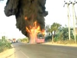 Video : Dramatic Video Of Telangana Bus That Caught Fire. All Passengers Escaped