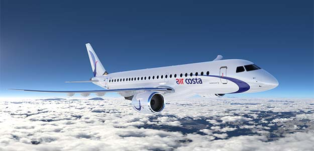 Start-up airline Air Costa places orders for 50 Embraer jets worth $2.94 billion